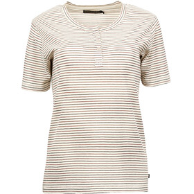 United By Blue W's Mull Stripe Henley Cream